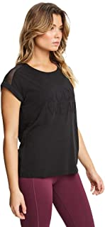 Rockwear Activewear Women's Logo Front Mesh Panel Tee Black 14 from Size 4-18 for T-Shirt Tops