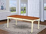 East West Furniture Dover Table-Cherry Table Top Surface and Buttermilk Finish beautiful four Legs Solid wood Structure Wood Dining Table