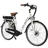 AsVIVA E-Bike Hollandrad 28', Tiefeinsteiger (13Ah Samsung Cell), 7 Gang Shimano Nexus Nabenschaltung, Bafang Mittelmotor, Scheibenbremsen, weiß