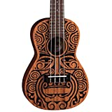 Luna Tribal Mahogany Concert Ukulele, Satin Natural