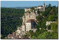 BEI YU MAN.co フランスの城ロカマドゥール大人のためのジグソーパズル子供1000ピース木製パズルゲームギフト用家の装飾特別な旅行のお土産
