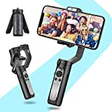 3-Axis Gimbal Stabilizer for iPhone - Lightweight Handheld Gimbal for iPhone 11 Pro Max w/Auto 3D Inception Timelapse Dolly Zoom Phone stabilizers for Video Recording YouTube Vlog - Hohem iSteady X