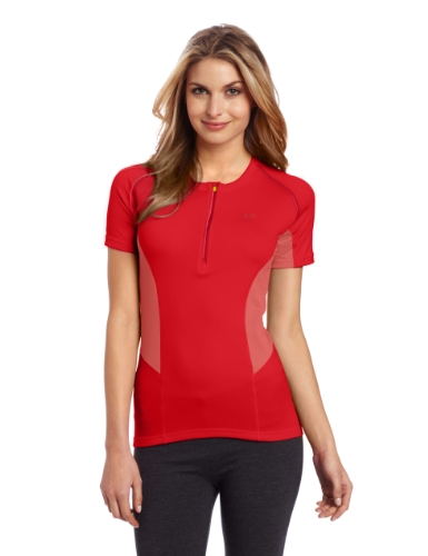 Helly Hansen W Pace SS T-Shirt Manches Courtes 1/2 Zip Femme, Coral, FR : L (Taille Fabricant : L)