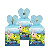 12pcs SpongeBob candy gift boxes, SpongeBob themed party supplies, children's birthday party snack boxes.