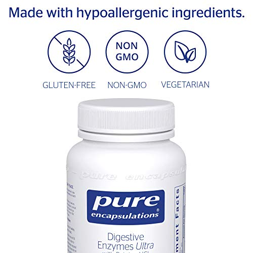 Pure Encapsulations - Digestive Enzymes Ultra with Betaine HCl - Comprehensive Blend of Digestive Enzymes with Betaine HCl - 90 Capsules