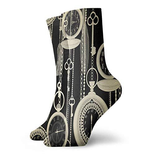 Calcetines, relojes vintage deportivos calcetines casuales calentadores de poliéster tripulación tubo medias 11.8 pulgadas para hombre mujer