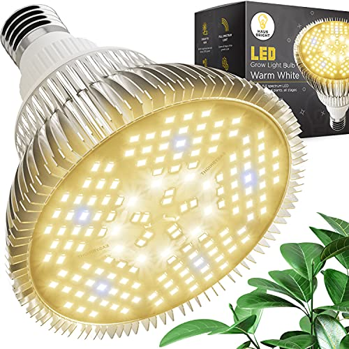 Haus Bright Warm White LED Grow Light Bulb - for Indoor Plants Full Spectrum Lamp | Seed Starting, House, Garden, Vegetable, Succulent, Hydroponic, Greenhouse & Medicinal Growing | 100W E27