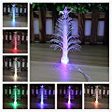 Elloapic Colorful Fiber Optic Christmas Tree with Multi-Color LED Flash Light USB Powered Christmas Santa Xmas Decoration 5' Tall, with Sucker in The Bottom