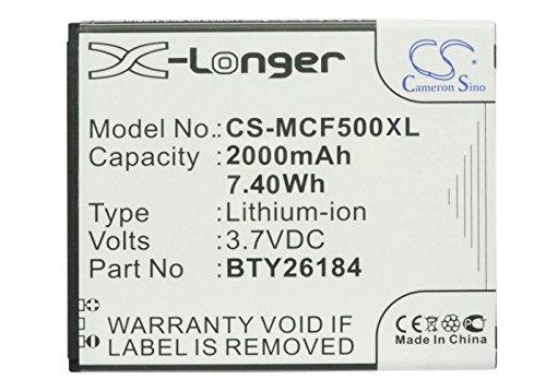 Handy Akku 2000mA/ 7.4Wh passend für [Mobistel] Cynus F5,MT-8201S,MT-8201B,MT-8201w,ersetzt [Mobistel] BTY26184,BTY26184Mobistel/STD,