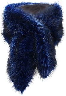 Women's Faux Fur Shawl Wraps Cloak Coat Sweater Cape for Evening Party