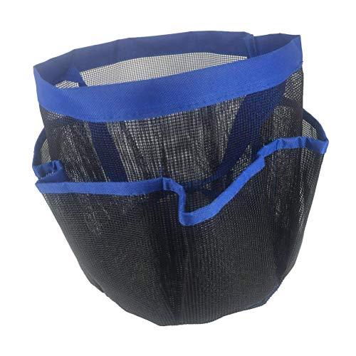 CHOUCHOU MultifuncióN Organizador portátil de Bolsas de cosméticos de Maquillaje de Viaje 8 Rejillas Bolsas de tocador de Malla Fina con Mango for Dormitorio Gimnasio Campamento Playa de Viaje (Azul)