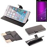 K-S-Trade® Handy Schutz Hülle Für Allview Soul X6 Xtreme Flip Cover Handy Wallet Case Slim Bookstyle Schwarz
