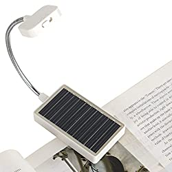 Best clip-on solar rechargeable book light and warm light for reading while camping