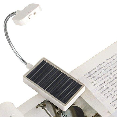 Solar Clip on Book Light,Glovion LED Reading Light USB...