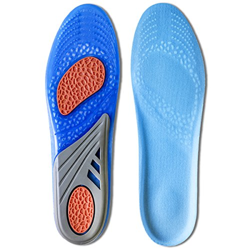 Kalak: Plantillas GEL Sports Confort Cuttable Insoles para la amortiguación (Tamaño de los hombres EUR 40-46.5)
