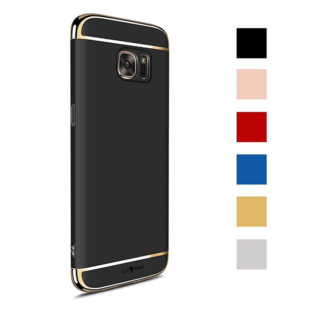 Galaxy S7 Case Back Cover, Ultra Slim & Rugged Fit Shock Drop Proof Impact Resist Hard Protect Case for Samsung Galaxy S7 (5.1'')(2016) - Black vh6096391
