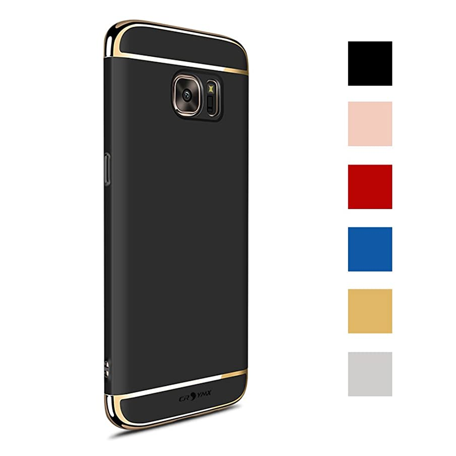 Galaxy S7 Case Back Cover, Ultra Slim & Rugged Fit Shock Drop Proof Impact Resist Hard Protect Case for Samsung Galaxy S7 (5.1'')(2016) - Black