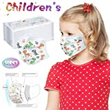 50Pcs Disposable Children C-Over, Cute Cartoon Print Children's Safety Macks,Outdoor Breathable and Comfortable