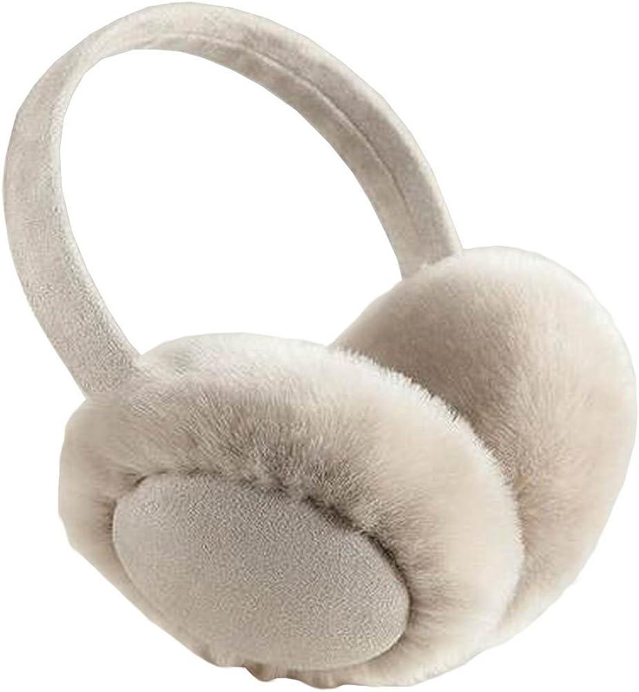 Black Temptation Soft Foldable Earmuffs Winter Ear Warmer Earwears Gray
