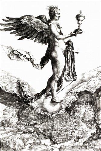Posterlounge Stampa su Vetro Acrilico 60 x 90 cm: Nemesis (The Great Happiness) di Albrecht Dürer