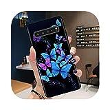 Phone Case Coque pour Samsung S20,Coque Motifs Papillon Mignon Simple pour Samsung S20 Ultra S10 S9...