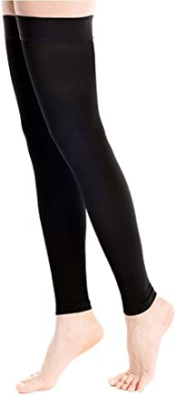 a4f4c4bed9393e DCCDU Medical Thigh High Footless Compression Stockings with Silicone Band  Firm Support 20-30 mmHg