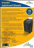 Royal Sovereign Shredder Lubricant Sheets, 10-Pack (RS-SLS)