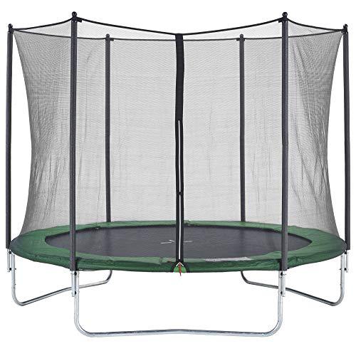 CZON SPORTS Trampoline - Cama elástica infantil, 300 cm (verde)