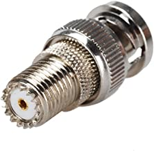 DHT Electronics RF coaxial coax adapter BNC male to MINI-UHF female connector