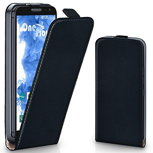 MoEx® Flipcase passend für LG G2 Mini | Klapphülle Handytasche mit Rundum Schutz - Handy Hülle Klappbar Flip Case, Schwarz
