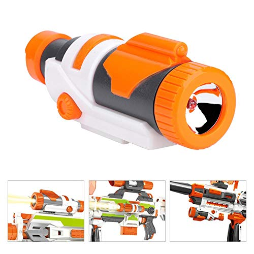 Tbest Alcance de Linterna de Luz LED Táctica Desmontable Extraíble Linterna Scope Attachment Shoulder Stock para Modulus Modify Blaster Juguete para Niños