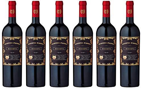 Doppio Passo Riserva Brindisi 2017 | trockener Rotwein | italienischer Wein aus Apulien (6x 0,75l)