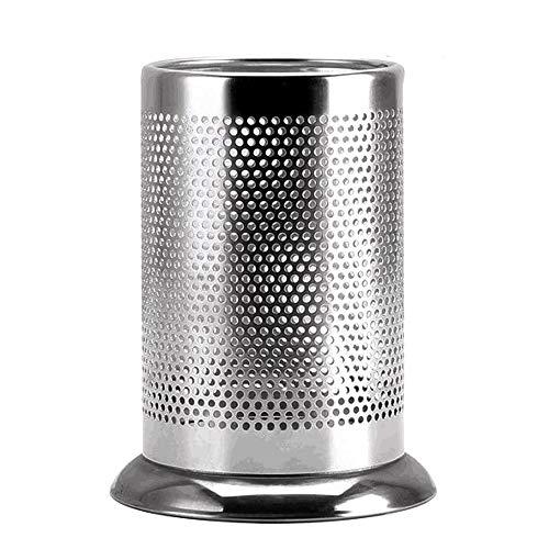 Stainless Steel Kitchen Utensil Holder, Flatware Caddy with Drain Holes for Utensil Holder, Dishwasher Safe Family Essential