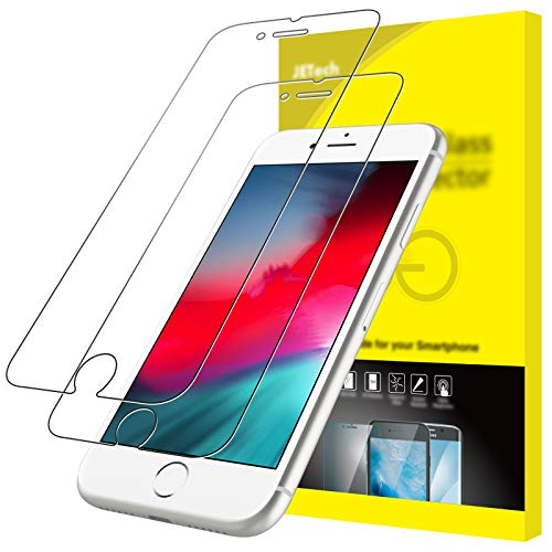 JETech Pellicola Protettiva Compatibile con iPhone 8/7, Vetro Temperato, Pacco da 2