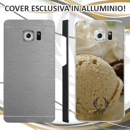 Custodia Cover Case Gelato Ice Cioccolato per Samsung Galaxy S6 Edge Plus in Alluminio