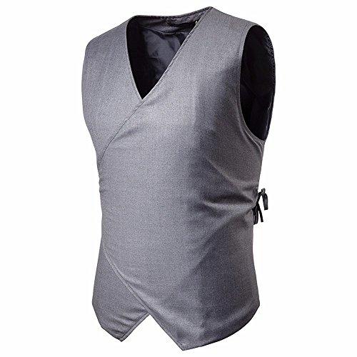 TEBAISE Elegante Herren Weste Anzugweste Casual Business stilvoll Vest Formal Slim Fit Retro Blazer