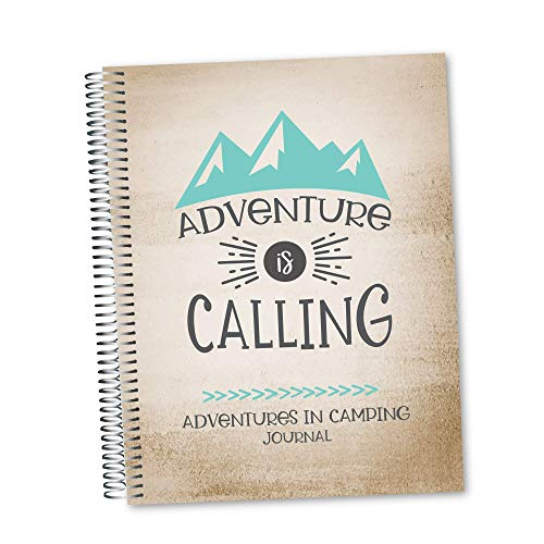 Adventures in Camping Journal and Mileage Log Book - RV Campers Book - Campsite Diary