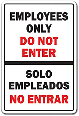 2 Employees Only Decal Sign Custom DIY /& Save Indoor or Outdoor Choice Color Vinyl Letters Business Sign Decor Door Barber Retail Shop Pizza