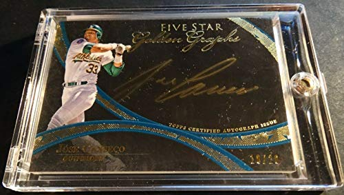 2014 JOSE CANSECO TOPPS FIVE STAR GOLDEN GRAPHS GOLD AUTO #FSGG-JC 18/20 (321)