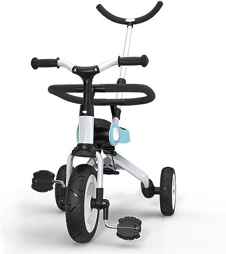 marca GYF Tricilo para Niños 3 EN 1 Triciclo Triciclo Triciclo para Niños 16 Meses  Triciclo con Pedales Telescópica para Padres Triciclo De Empuje  azul   amarillo   rojo   55X35X88CM ( Color   azul )  tienda de bajo costo