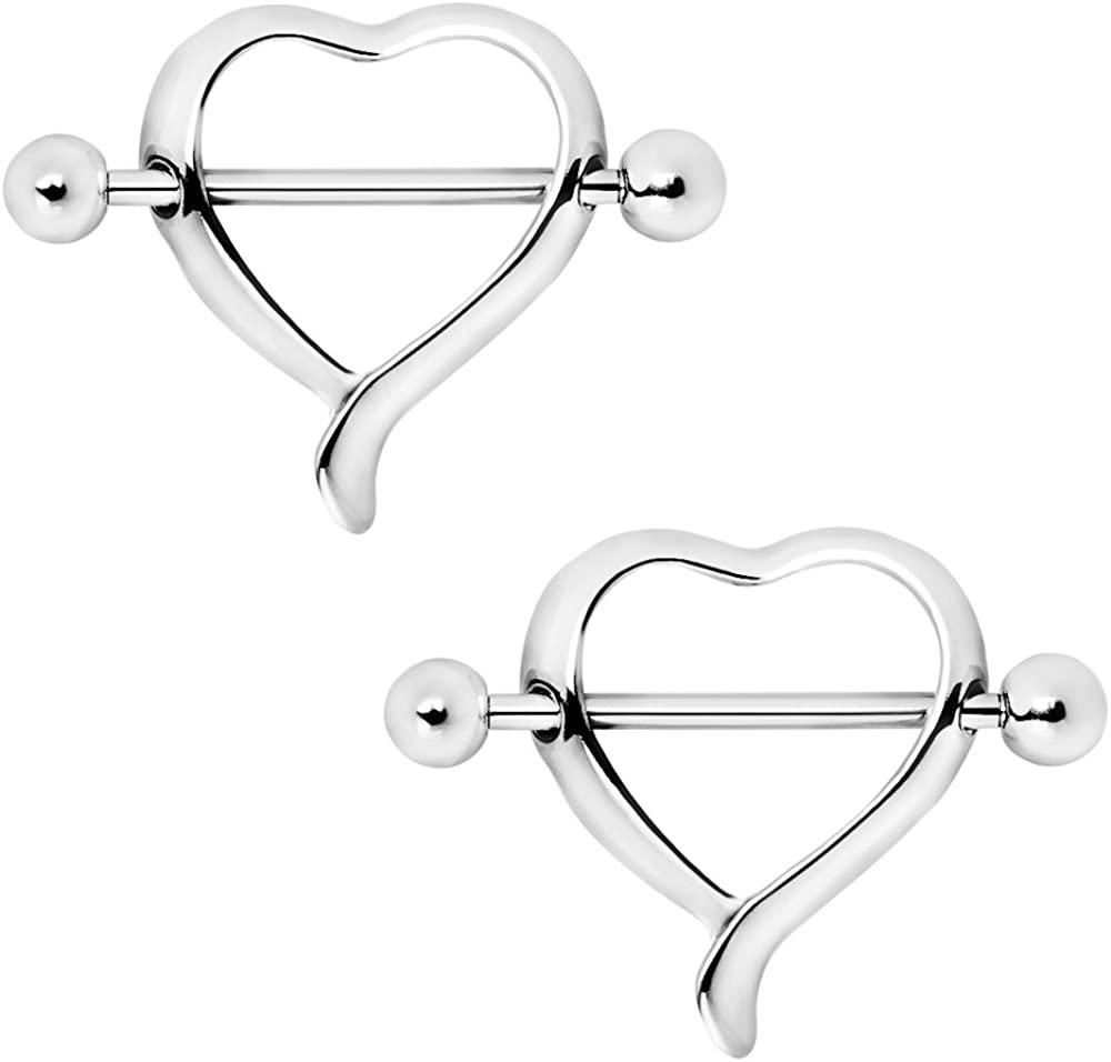Covet Jewelry 316L Stainless Steel Classic Heart Nipple Shield