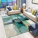 alfombras Rebajas,Alfombra Verde, estadilla de la Silla de Oficina de patrón de Tinta fácil de Extender la Alfombra Decorativa de la casa antiestática ,Alfombra salón -Verde_200x260cm