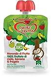 Cuore di Frutta Frullato di Frutta Bio Mela, Banana e Fragola, 12 Confezioni da 90 Gr