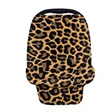 TOADDMOS Wild Cheetah Animal Print Funda de asiento de coche de bebé, multiuso, fundas de lactancia materna, toldos de asiento de coche, carrito de compras/sillas altas/fundas de cochecito