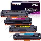 Zambrero 203X CF540X Compatibile Cartucce Toner per HP 203X 203A CF540X CF540A per HP Color Laserjet Pro MFP M281fdw M280nw M281fdn M281fdn M281cdw Pro M254dw M254nw M254nw M254dn (4 confezioni)