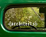 2 Architects Decal Rock Band Stickers White Die Cut for Window Car Jeep 4x4 Truck Laptop Bumper Rv