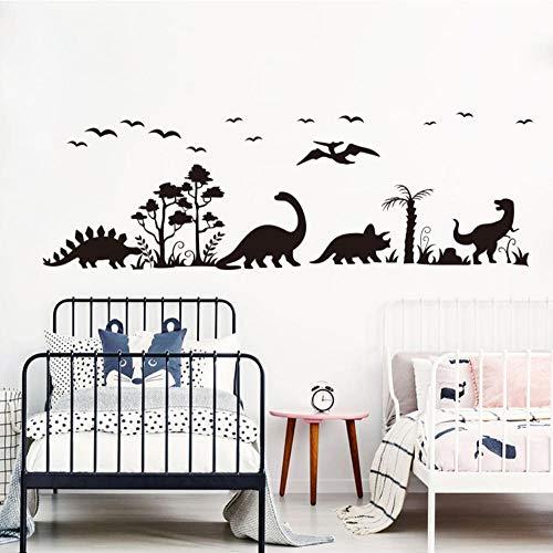 Axlgw grote dinosaurus dier bos boom vogel muur sticker slaapkamer woonkamer Jurassic Park Dino dier muur Decal kinderkamer Decor grootte 56Cmwidex18Cmhigh