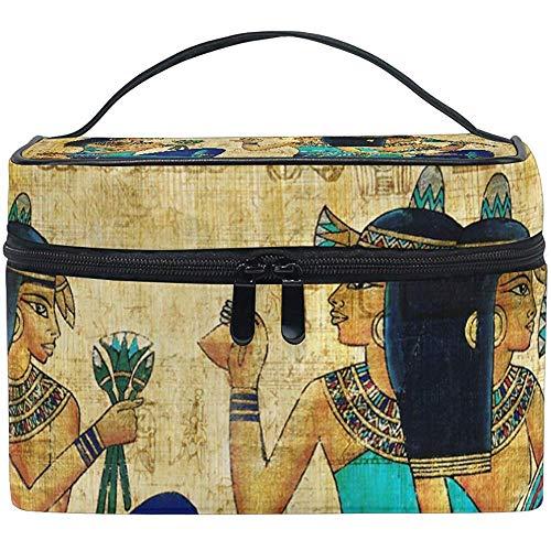 Parchemin égyptien antique sac cosmétique voyage maquillage train cas stockage organisateur