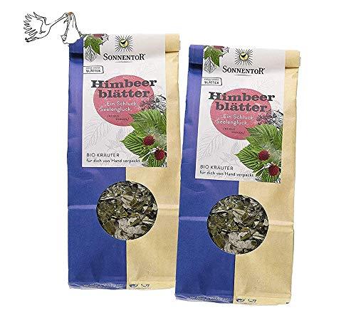 Sonnentor Tee: 100 % bio Himbeerblätter lose, 2er Pack Kräutertee (100 g) - Geschenkset BIO-AT-301
