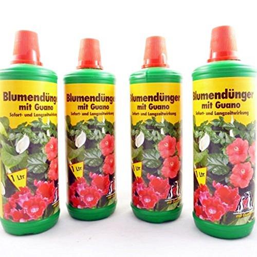 4 Liter Blumendünger mit Guano, Universal Flüssig Pflanzen Dünger